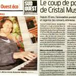 article-sud-ouest-vingt-ans-cristal-musique